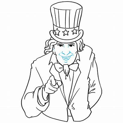 Uncle Sam Draw Drawing Step Easy