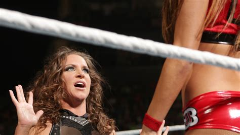 stephanie mcmahon  tight leather outfit  gotceleb