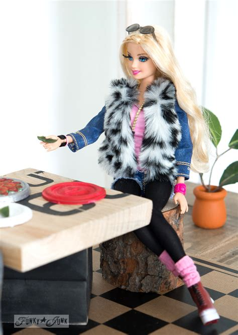 upcycled barbie doll house reveal funky junk interiors