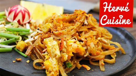 cuisine thailandaise poulet pad ou nouilles sautées la recette thailandaise