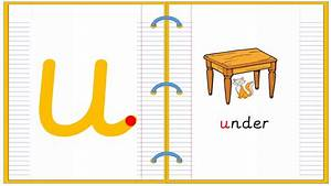 Lowercase Alphabet Letter U Learn To Read And Write
