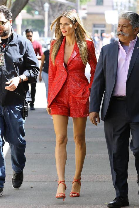 Heidi Klum Arriving Americas Got Talent Pasadena