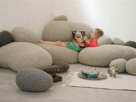 fauteuil pouf design pour  interieur confortable