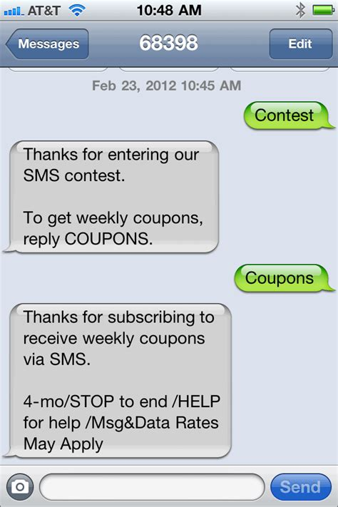 sms contests  increase subscribers tatango
