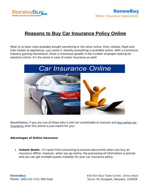 Save on your car insurance and get money calm. PPT - Reasons to Buy Car Insurance Policy Online PowerPoint Presentation - ID:7375894