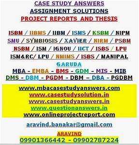 Answer Solution  Attempt All The Case Case