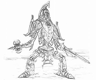 Skyrim Coloring Pages Scrolls Elder Dragonborn Collections
