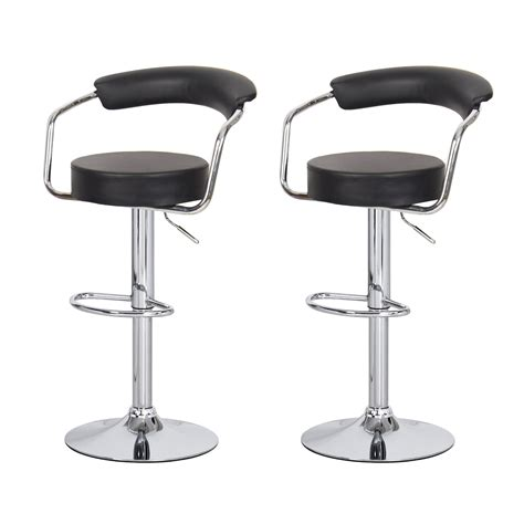 Joveco 360 Degree Swivel Adjustable Round Seat Bar Stool