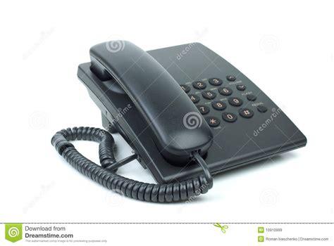 telephone de bureau téléphone noir de bureau avec le combiné téléphonique avec