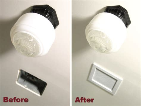 bathroom ceiling fan cover ana white diy bathroom fan vent cover diy projects