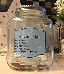 Kids Yearly Savings Jar - 1 Penny at a Time! - Living Chic Mom