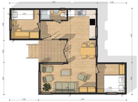 cuisine facade bois habitats modulaires