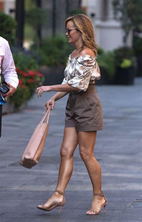 Amanda Holden Leggy in shorts outside Global Radio in ...