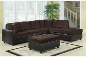 coaster chocolate corduroy leather sectional sofa