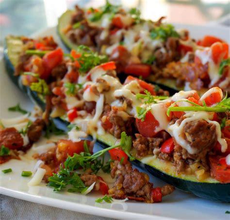 Italian Stuffed Zucchini Boats With Ground Beef Tomatoes Mozzarella italian stuffed zucchini boats with ground beef tomatoes