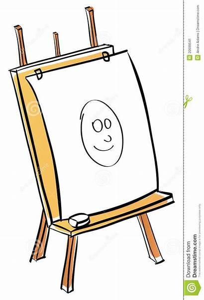 Easel Cartoon Artist Clipart Funny Blank Clipartpanda