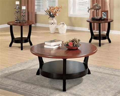 Round Coffee Table Sets Easyhometipsorg
