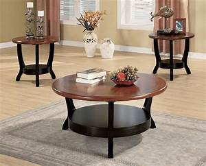 Round coffee table sets easyhometipsorg for Round coffee table and end table set