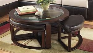 Marion nesting round coffee table home zone furniture for Round stacking coffee table