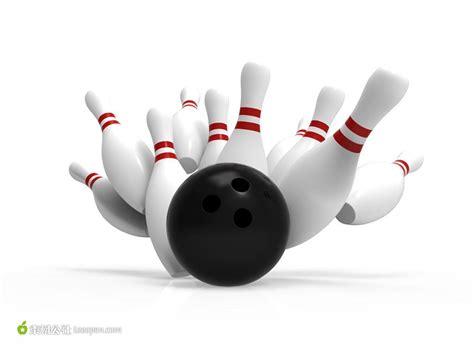 保龄球系列 - 被黑色保龄球冲撞的白色瓶子 - 素材公社 tooopen.com