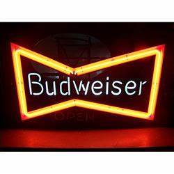 RARE Budweiser Bow Tie NEON Sign with