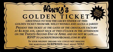 willy wonka golden ticket party invitation digital