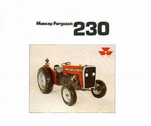 Massey Ferguson Mf230 Tractor Parts Manual 130pgs W   Mf 230 Repair Diagrams Auction  For Sale