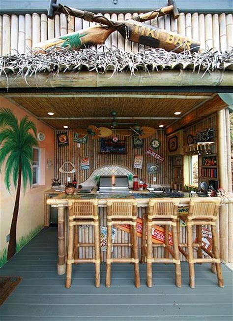 Backyard Tiki Bar by Outdoor Tiki Bar Stools Woodworking Projects Plans
