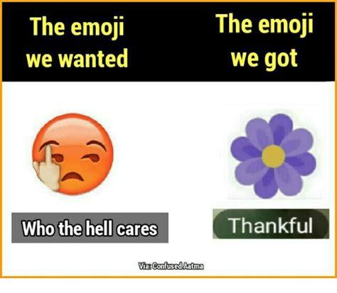 Emoji Memes - the emoji the emoji we wanted we got thankful who the hell cares via confused aatma confused