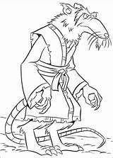 Coloring Splinter Pages Rat Turtles Ninja Printable Teenage Humanoid Mutant Categories sketch template