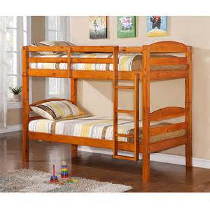 solid wood bunk bed colors walmart com