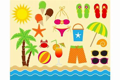 Beach Clip Digital Clipart