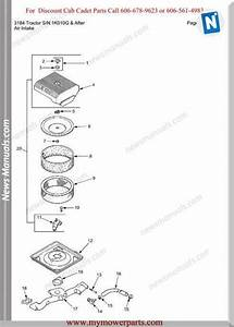 Cub Cadet Parts Manual 3184 Tractor Sn 1k010g And After