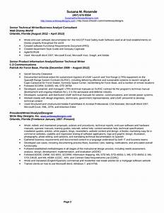 professional technical writer resume template page 2 With professional technical resume writers