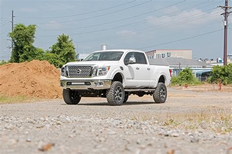nissan titan xd lifted 6in suspension lift kit for 2016 4wd nissan titan xd