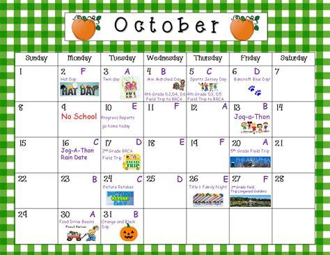 Calendar School School Calendar Bancroft Elementary School