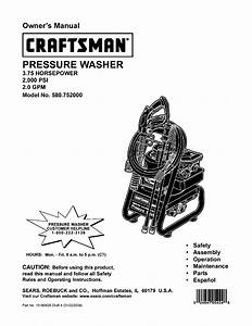 Craftsman Pressure Washer 580 752 User Guide