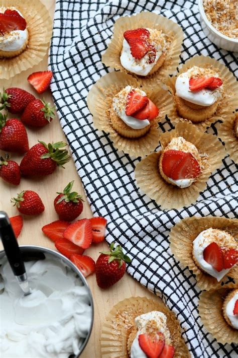 gluten  dairy  angel food cupcakes  strawberries