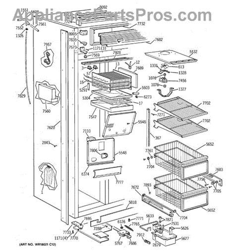 parts  ge ziswdtb freezer section parts appliancepartsproscom