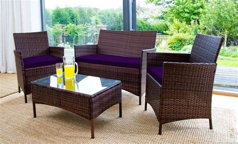 replacement 3pc cushions set to fit rattan garden