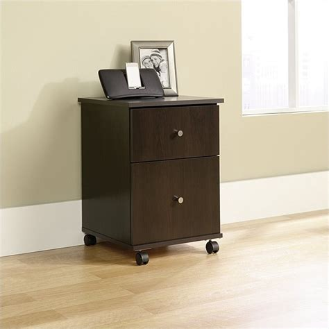Sauder File Cabinet In Cinnamon Cherry by Mobile File Cabinet In Cinnamon Cherry 410637