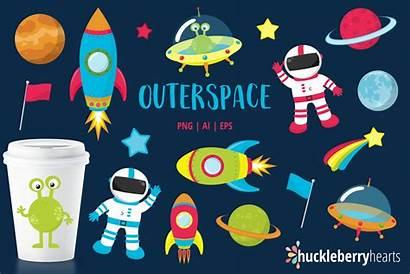 Space Clipart Outer Huckleberry Hearts Designer Follow