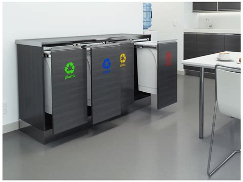 kitchen storage solutions nz innovative recycling station for environments 6196