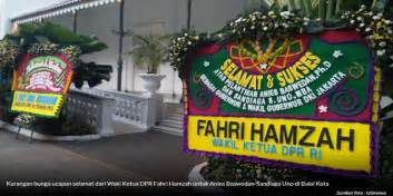sambut anies sandi karangan bunga menteri susi  fahri