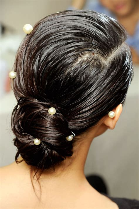 Wedding Hair with Pearls