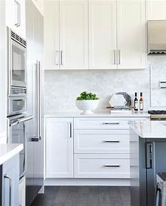 Best 25 white shaker kitchen cabinets ideas on pinterest for Kitchen colors with white cabinets with contemporary framed wall art
