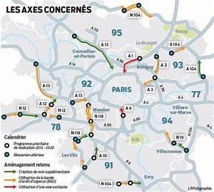 Carte France Autoroute : autoroutes d ile de france des voies r serv es aux v hicules prioritaires d s 2015 ~ Medecine-chirurgie-esthetiques.com Avis de Voitures