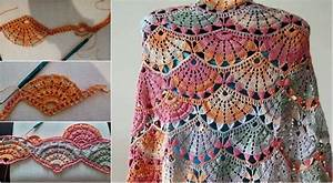 Spring Colorful Crochet Shawl