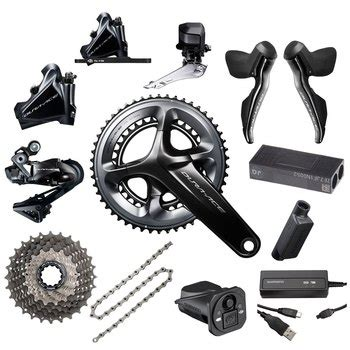 shimano dura ace di2 r9150 groupset 2x11 speed hydraulic disc brakes cable routing