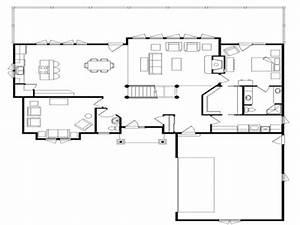 Log Cabin Flooring Ideas Log Home Open Floor Plan, open ...